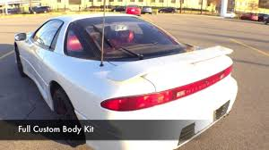 mitsubishi sports car white 1991 mitsubishi 3000gt start up exhaust review tour youtube