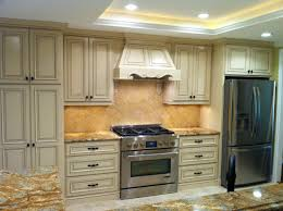 Spraying Kitchen Cabinet Doors by Oak Kitchen Cabinets Painted Antique White U2013 Home Improvement 2017