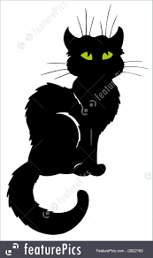 halloween cats silhouette of a witch on halloween stock vector image 56945559