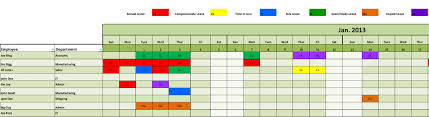 rotating schedule template