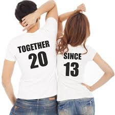t shirt originaux homme lot de 2 t shirts pour amoureux à personnaliser together since