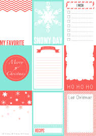 santa gift list free printable christmas journaling cards for your secret santa