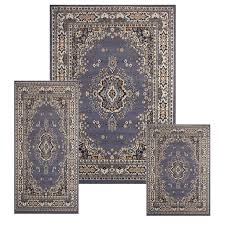 Persian Rug Mouse Mat by Traditional Medallion Persian 3 Pcs Area Rug Oriental Bordered