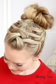 images of braids with french roll hairstyle braid 14 triple french braid double waterfall