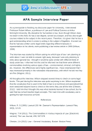 how to write an interview paper apa style check out flawless apa sample interview paper interview papers in apa style apa sample interview paper