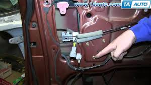 how to install replace front power window regulator 2004 14 nissan