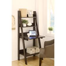 ladder bookshelf and desk walmart leaning bookcase trends