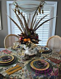 Fall Centerpieces With Feathers by Fall Tablescapes For Inspiration Celebrate U0026 Decorate