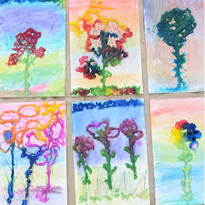 salt painting art work process art for kids meri cherry