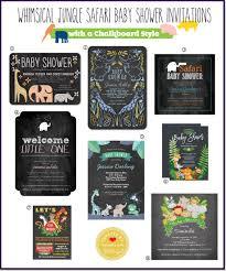 baby shower chalkboard safari themed baby shower invitations chalkboard style
