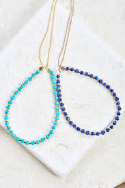 simple turquoise necklace images Natural stone necklace bearfruit jewelry jpg
