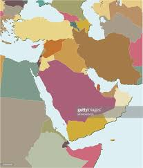 The Middle East Map by Colored Map Of The Middle East Vector Art Getty Images