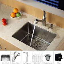 kraus pull out kitchen faucet stainless steel kitchen sink combination kraususa
