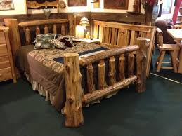 Wood Log Bed Frame Northwoods Traditions Log Beds