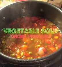 a warm and hearty vegetable soup whipped up in a jiffy with the