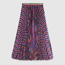 pleated skirts iridescent pleated skirt gucci women s skirts 436174zjm995013