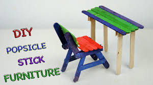 Kids Chairs And Table Diy Popsicle Stick Furniture Chair And Table Crafts For Kids