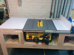 Free Simple Wood Workbench Plans by Table Saw Station Album Woodworking And Wood Working