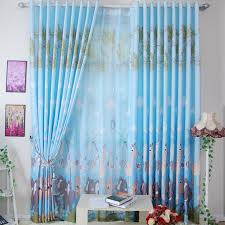Yarn Curtains Wild Lion Printed Blue Curtains Made Of Poly And Yarn Buy Blue