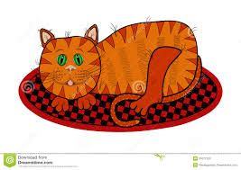 cat clipart mat pencil and in color cat clipart mat