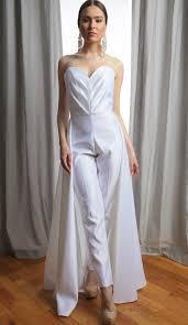 wedding dress jumpsuit pleated sweetheart strapless bridal jumpsuit