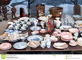flea market dishes stock photo image of dishes outdated 29999366