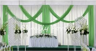 wedding backdrop green swag draperies picture more detailed picture about beautiful