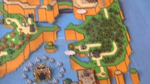 Paper Mario World Map by Super Mario World Map 3d Paper Diorama Youtube