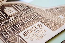 rustic save the dates shauna darrell s rustic etched wood barn save the dates