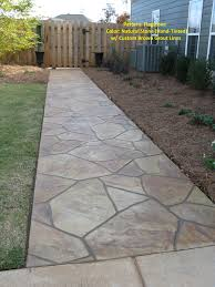 Dry Laid Bluestone Patio by How To Lay Flagstone Patio For New Building With Wood Bridge