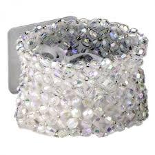Wrist Corsage Bracelet Classic Clear Iridescent Wrist Corsage Bracelet