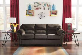 full sofa sleeper with nailhead trim and pillow arms by signature