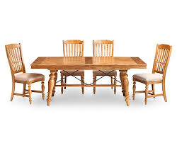 Dining Room Trestle Table Lake House 5 Pc Round Dining Room Set Furniture Row