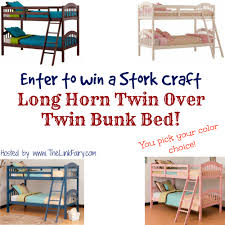 Stork Craft Long Horn Twin Over Twin Bunk Bed Giveaway Jet - Long bunk beds