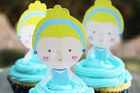 cinderella cupcake toppers cinderella cupcake topper printable everydayparties