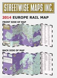 Travel Map Of Europe by Streetwise Europe Rail Map Laminated Railroad Map Of Europe