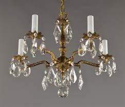 Marie Therese Crystal Chandelier Spanish Brass U0026 Crystal Chandelier C1950