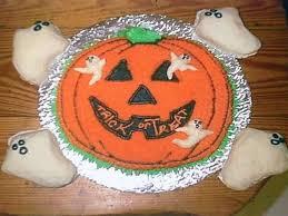 halloween jack o lantern u0026 ghost cake cakecentral com