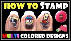 how to stamp multi colored designs konad stamping nail art