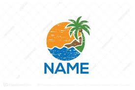 travel logos images Tropical travel logo jpg
