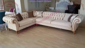 beige velvet chesterfield corner sofa design exclusive design ideas