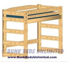 Wooden Loft Bed Plans by Children U0027s Twin Loft Bed With Desk Woodworking Plans Ebay