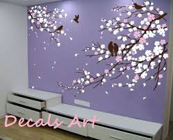 Etsy Wall Decals Nursery Prissy Ideas Cherry Blossom Wall Decor Together With Nursery Epic