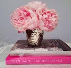 Peony Arrangement Hydrangea Peach Peony Arrangement Silk Flowers Artificial Faux In