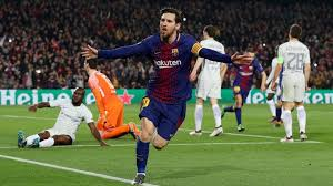 Lionel Messi Leg Lionel Messi Delighted To Reach 100 Chions League Goals