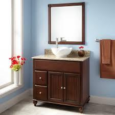 Bathroom Vanity Bowl Sink 36 Dallan Vessel Sink Vanity Walnut Bathroom