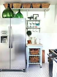 top of fridge storage top of fridge storage ideas above fridge cabinet above fridge