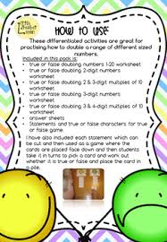 or false doubling and halving worksheets and games complete set