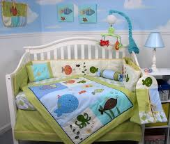 teal crib bedding set amazon com soho gold fish aquarium baby crib bedding set 13 pcs