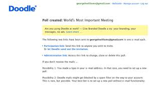 doodle open poll scheduling using doodle to find the best time for a committee
